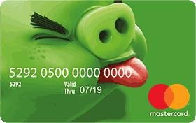 Cartão Pré-Pago AcessoCard Angry Birds Pig MasterCard® Internacional