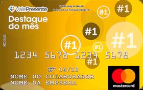 Cartão Pré-Pago Vale Presente Destaques do Mês Mastercard