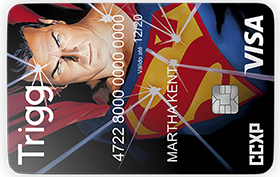 Cartão Trigg Visa Super Homem