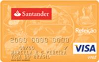 Cartão de Crédito Santander Refeição Visa Vale