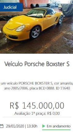 Veículo Porsche Boxster S