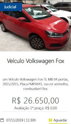 Veículo Volkswagen Fox