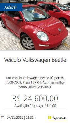 Veículo Volkswagen Beetle
