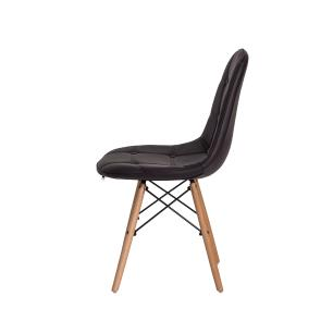 Kit 4 Cadeiras Charles Eames Eiffel Botone Marrom