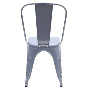 Kit 2 Cadeira Para Mesa De Jantar Cozinha Sala Escrivaninha Tolix Iron Industrial Cinza