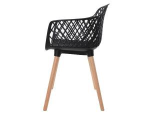 Kit 3 Cadeiras Vision Com Braço Preta
