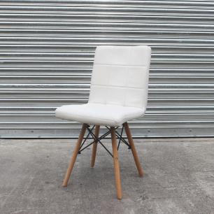 Kit 3 Cadeiras Para Mesa De Jantar Cozinha Sala Escrivaninha Charles Eames Gomos Branco