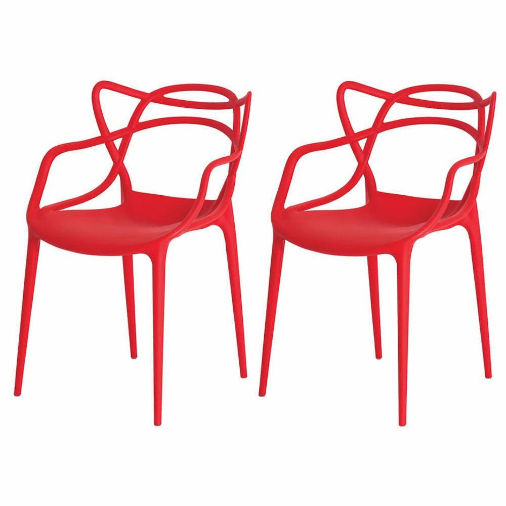 Kit de 2 Cadeiras Allegra Vermelha