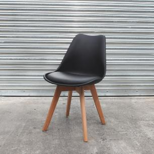 Kit 3 Cadeiras Para Mesa De Jantar Sala Cozinha Escrivaninha Saarinen Design Leda Preta
