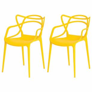 Kit de 2 Cadeiras Allegra Amarela