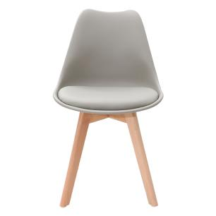 Cadeira Para Mesa De Jantar Sala Cozinha Escrivaninha Saarinen Design Leda Cinza