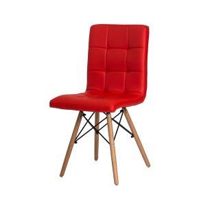 Kit 2 Cadeiras Charles Eames Gomos Vermelha