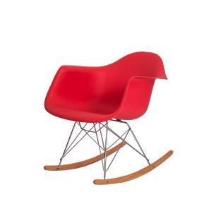 Cadeira Eiffel Eames RAR c/Braço Vermelha Balanço
