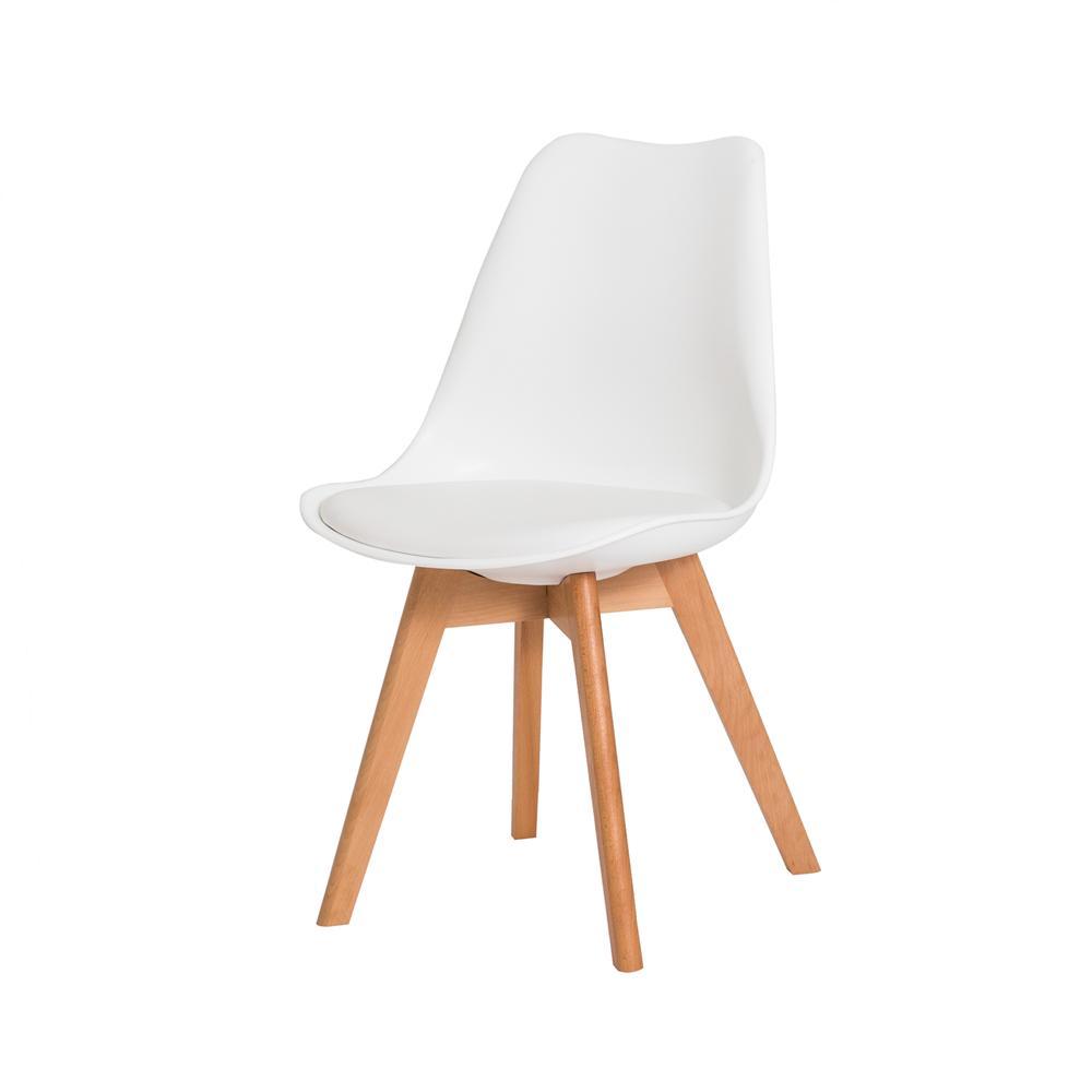 Kit 2 Cadeiras Para Mesa De Jantar Sala Cozinha Escrivaninha Saarinen Design Leda Branca