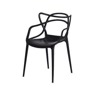 Kit 2 Cadeiras Allegra Preta Empilhável