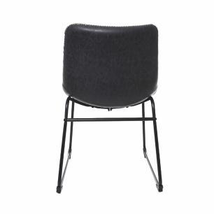 Kit 2 Cadeira Para Mesa De Jantar Sala Cozinha Restaurante Escrivaninha Munich Bruna Courino Preta