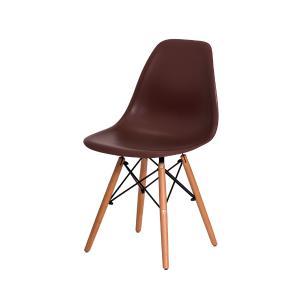 Cadeira Eiffel Eames DSW Marrom Base Madeira