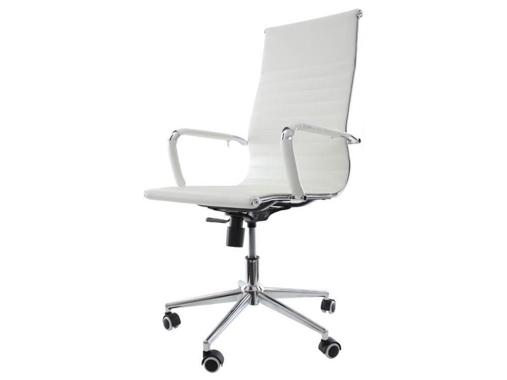 Kit 2 Cadeiras De Escritório Presidente Charles Eames Eiffel Branca