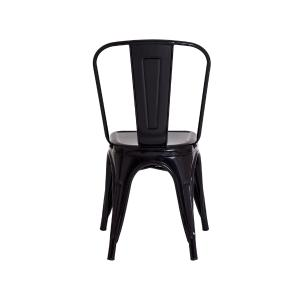 Kit 3 Cadeiras Para Mesa De Jantar Cozinha Sala Escrivaninha Tolix Iron Industrial Preta