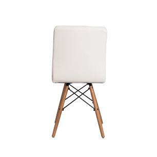 Cadeira Gomos Branca Base Madeira