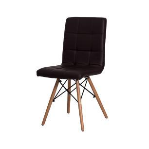 Kit 3 Cadeiras Charles Eames Gomos Marrom
