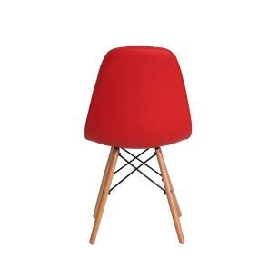 Kit 3 Cadeiras Charles Eames Eiffel Botone Base Madeira Vermelha