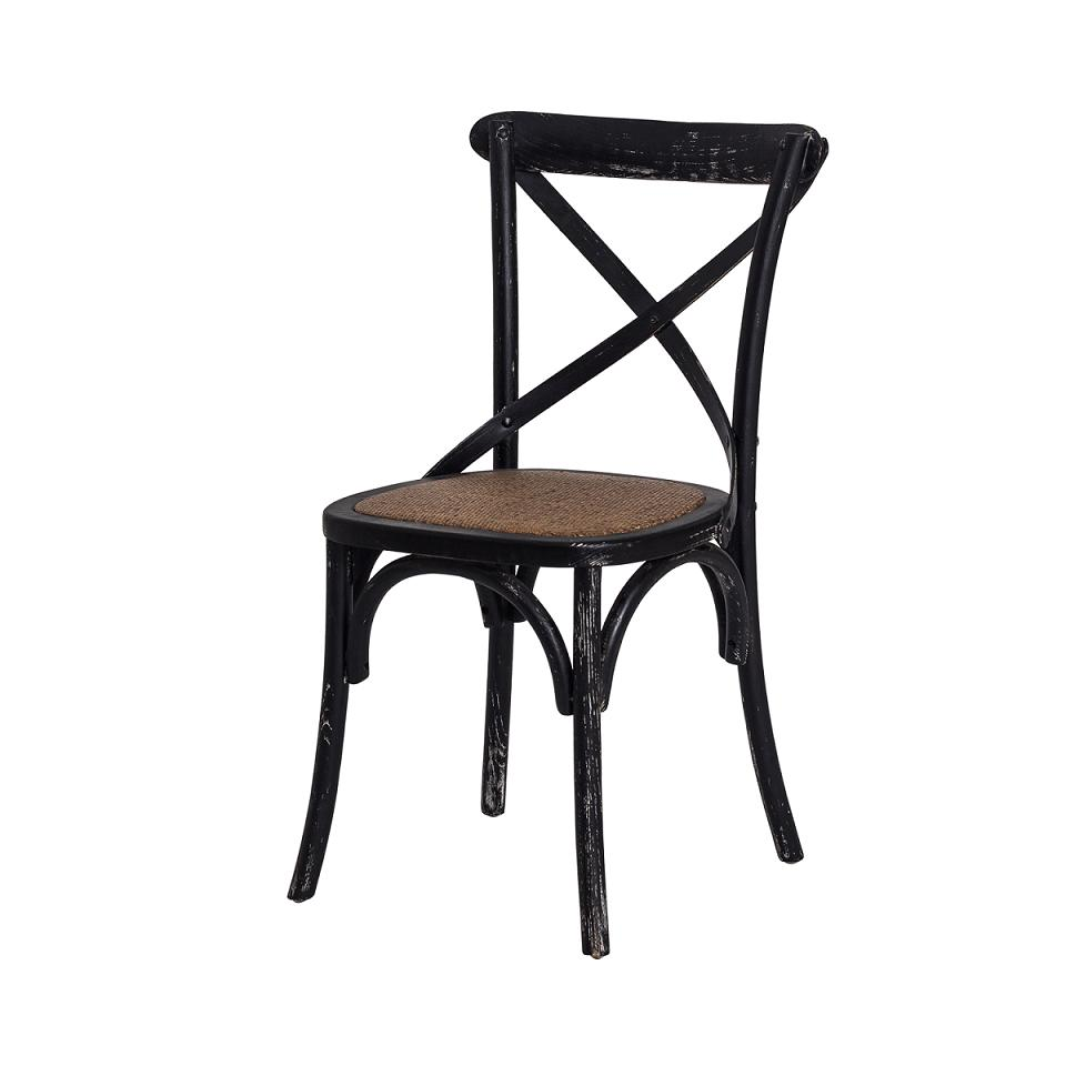 Cadeira Katrina Cross Paris Preto Vintage