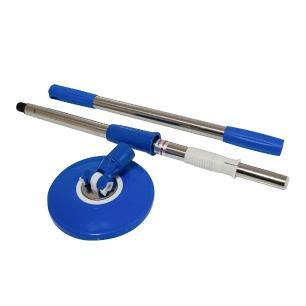 Balde Esfregão Spin Mop Centrífuga 360 Inox Com Rodinhas E 2 Refis De Microfibra