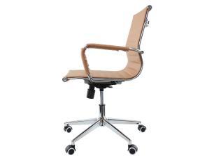 Kit 2 Cadeiras De Escritório Diretor Charles Eames Eiffel Caramelo