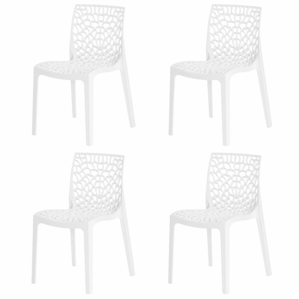 Kit 4 Cadeiras Gruvyer Branca