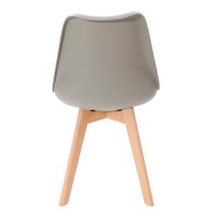 Kit 4 Cadeiras Para Mesa De Jantar Sala Cozinha Escrivaninha Saarinen Design Leda Cinza