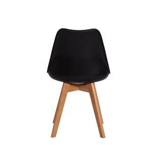 Kit 2 Cadeiras Para Mesa De Jantar Sala Cozinha Escrivaninha Saarinen Design Leda Preta