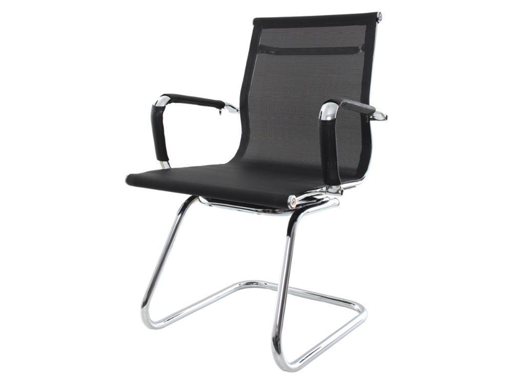 Cadeira De Escritório Fixa Charles Eames Eiffel Mesh Preta