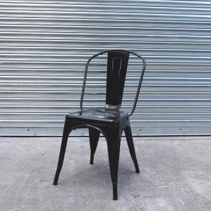 Cadeira Para Mesa De Jantar Cozinha Sala Escrivaninha Tolix Iron Industrial Preta