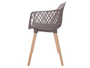 Kit 4 Cadeiras Vision Com Braço Fendi