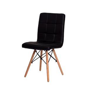 Kit 3 Cadeiras Charles Eames Gomos Preta