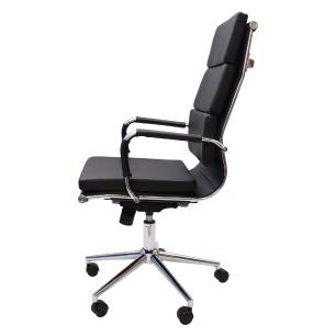 Cadeira De Escritório Presidente Charles Eames Eiffel Esteirinha Giratória Confort Preta