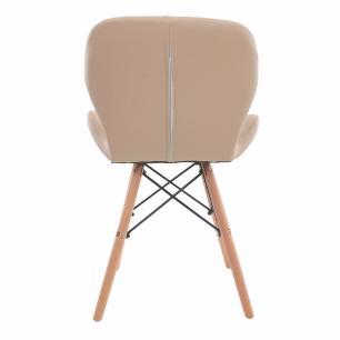 Cadeira Charles Eames Slim Base Madeira Nude
