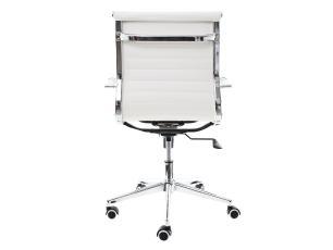 Kit 2 Cadeiras De Escritório Diretor Charles Eames Eiffel Branca