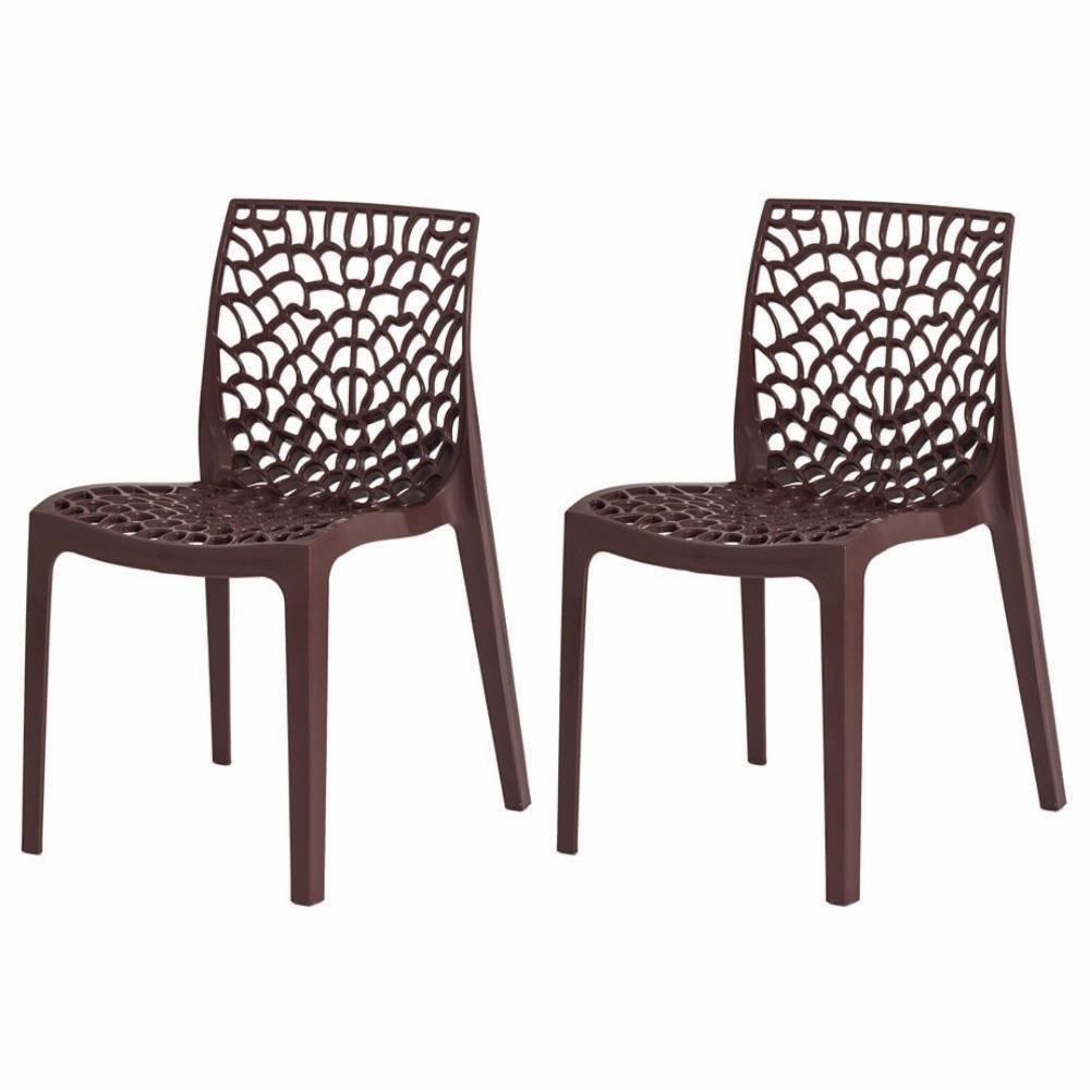 Kit 2 Cadeiras Gruvyer Marrom