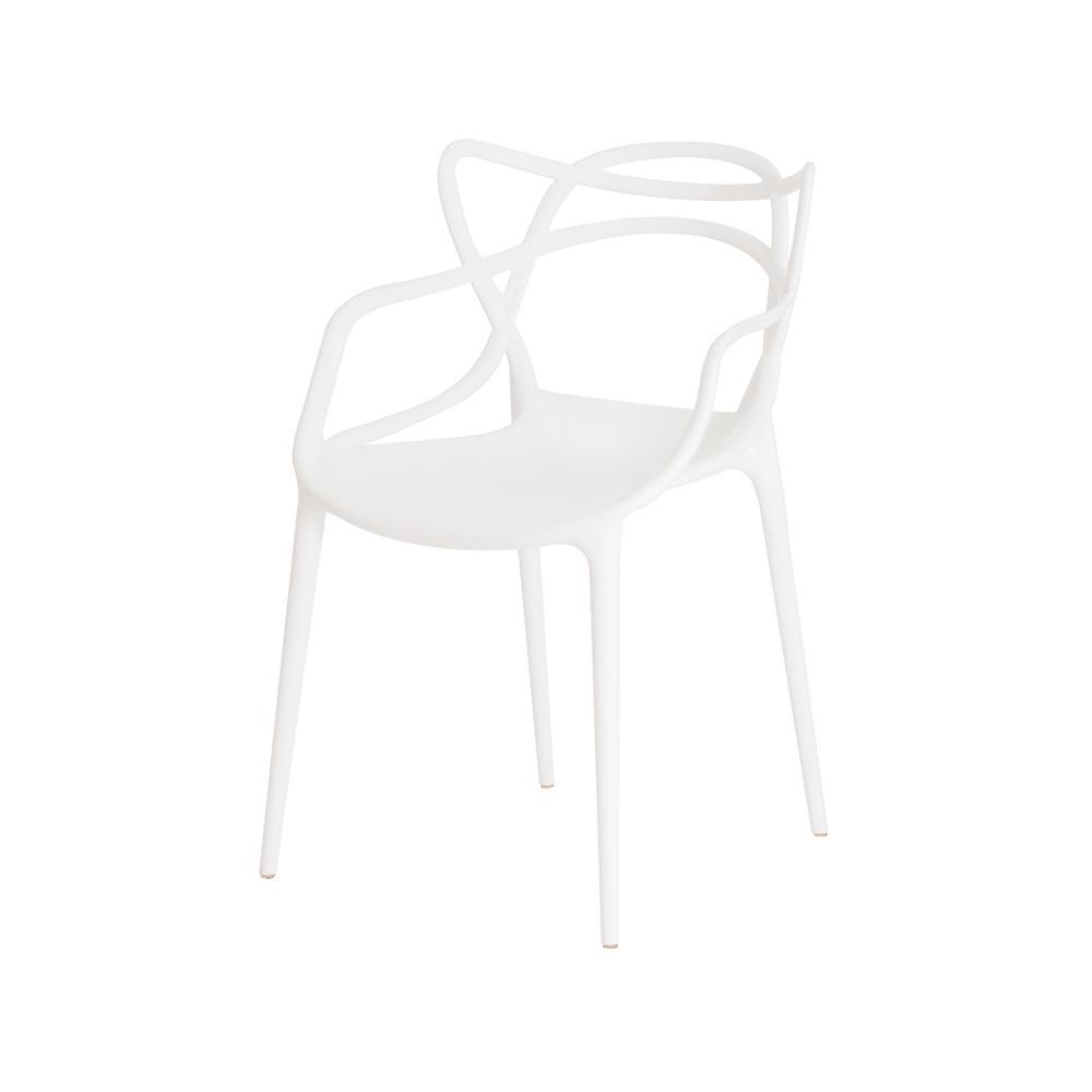 Cadeira Para Mesa De Jantar Cozinha Sala Escrivaninha Allegra Master Branca