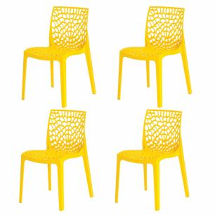 Kit 4 Cadeiras Gruvyer Amarela