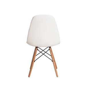 Kit 3 Cadeiras Charles Eames Eiffel Botone Base Madeira Branca
