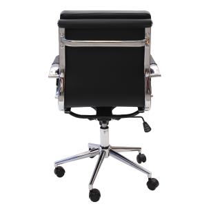Cadeira De Escritório Diretor Charles Eames Eiffel Stripes Esteirinha Diretor Preta