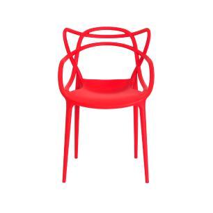 Cadeira Allegra Vermelha Empilhável
