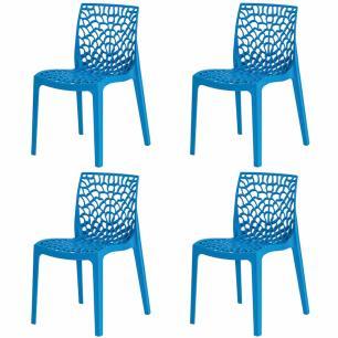 Kit 4 Cadeiras Gruvyer Azul