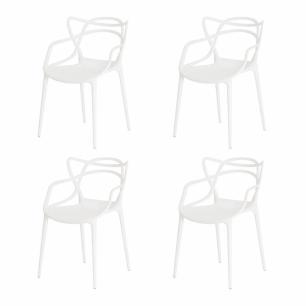 Kit de 4 Cadeiras Allegra Branca