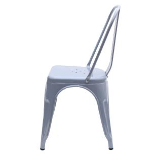Kit 4 Cadeira Para Mesa De Jantar Cozinha Sala Escrivaninha Tolix Iron Metal Industrial Cinza