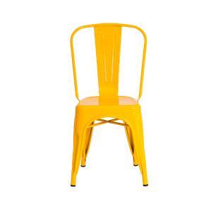 Kit 4 Cadeira Para Mesa De Jantar Cozinha Sala Escrivaninha Tolix Iron Metal Industrial Amarela