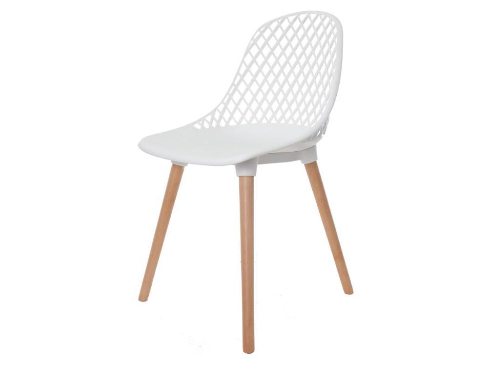 Cadeira Vision Base Madeira Branca
